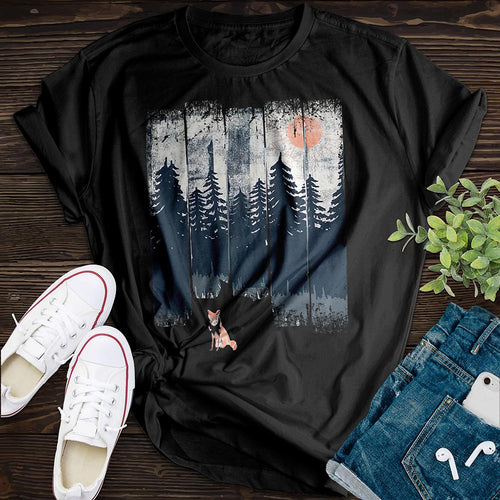 Forest Fox Tee - Pine and Oak