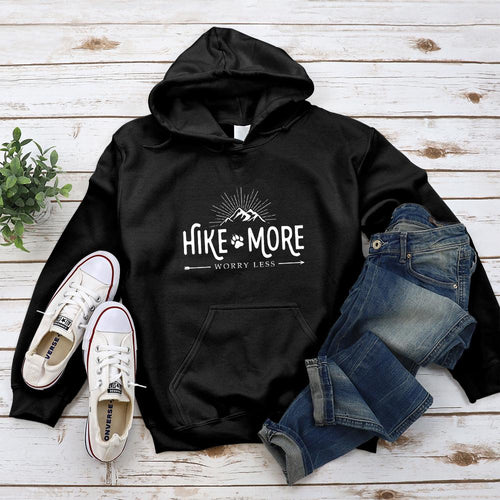 Hike More Worry Less Hoodie - Pine and Oak