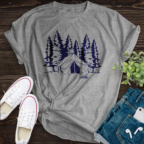 Id Rather Be Camping Tee - Pine and Oak