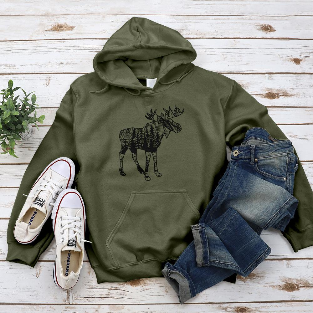Moose Sighting Hoodie - Pine and Oak