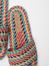 Load image into Gallery viewer, Sunny Vegan Rope Slide in Multi Rainbow