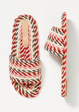 Load image into Gallery viewer, Sunny Vegan Rope Slide in Pink Multi