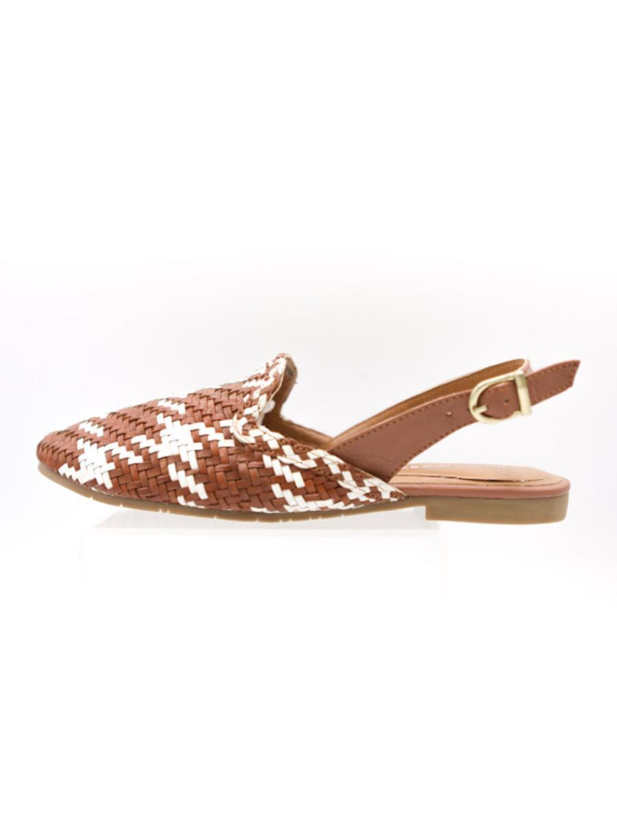 Ava in Tan and Ivory Houndstooth