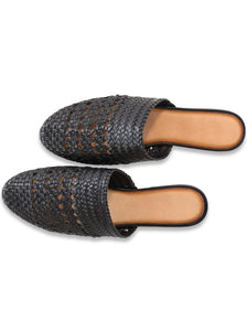 Lily Handwoven Mule in Black