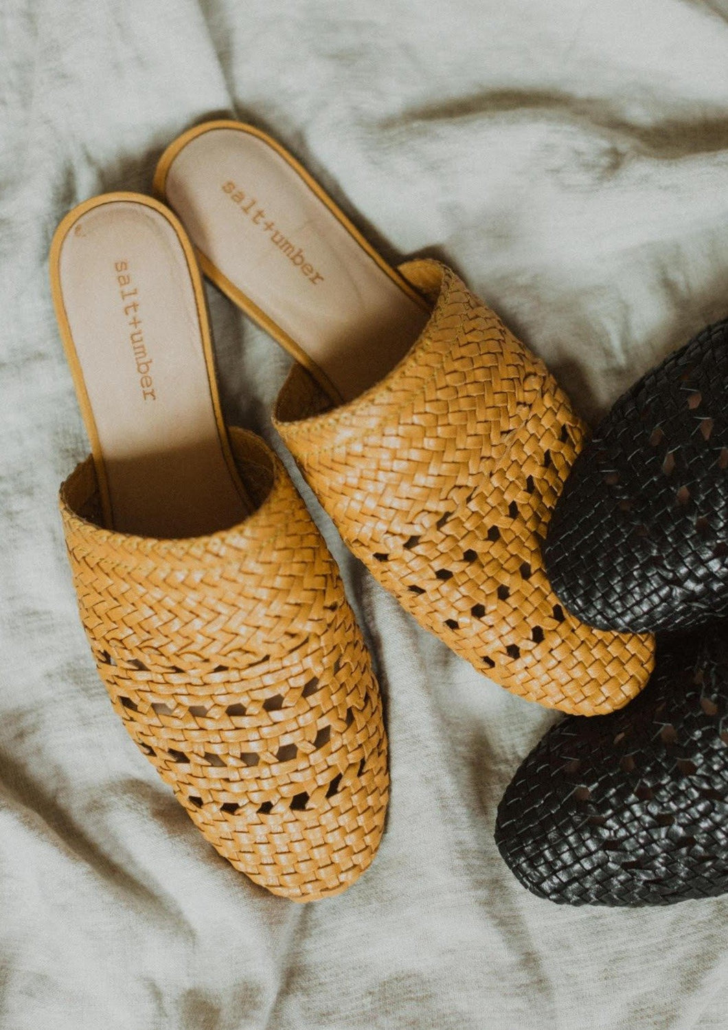 Lily Handwoven Mule in Mustard