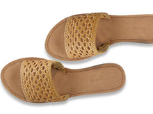 Load image into Gallery viewer, salt+umber Handwoven Leather Sandal in our signature open weave leather. Open weave design with slip-on style and our natural buff leather insole for maximum comfort. made in India
