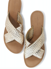 Load image into Gallery viewer, Dani Handwoven X-Band Slide in Gold