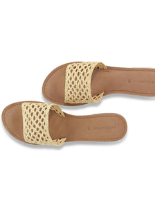 Baja Handwoven Slide in Natural