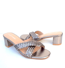 Load image into Gallery viewer, Mallorca Heel in Pewter Metallic