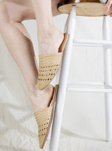 Load image into Gallery viewer, Lily Handwoven Mule in Beige