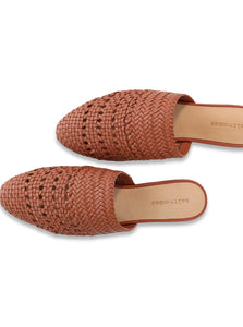 Lily Handwoven Mule in Terra Cotta