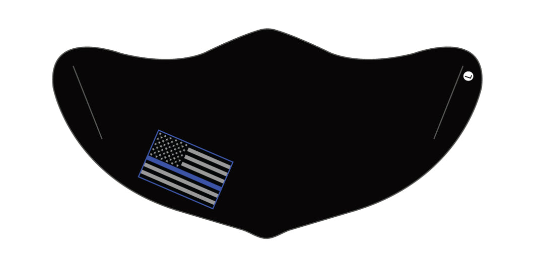 Blue Lives Matter Mask 2