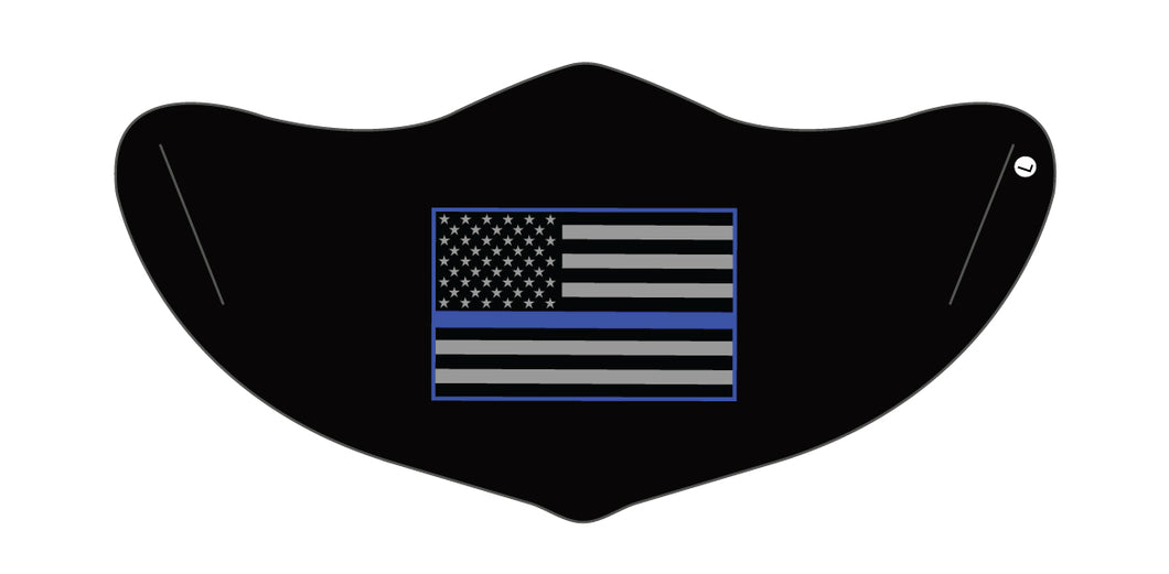 Blue Lives Matter Mask 3