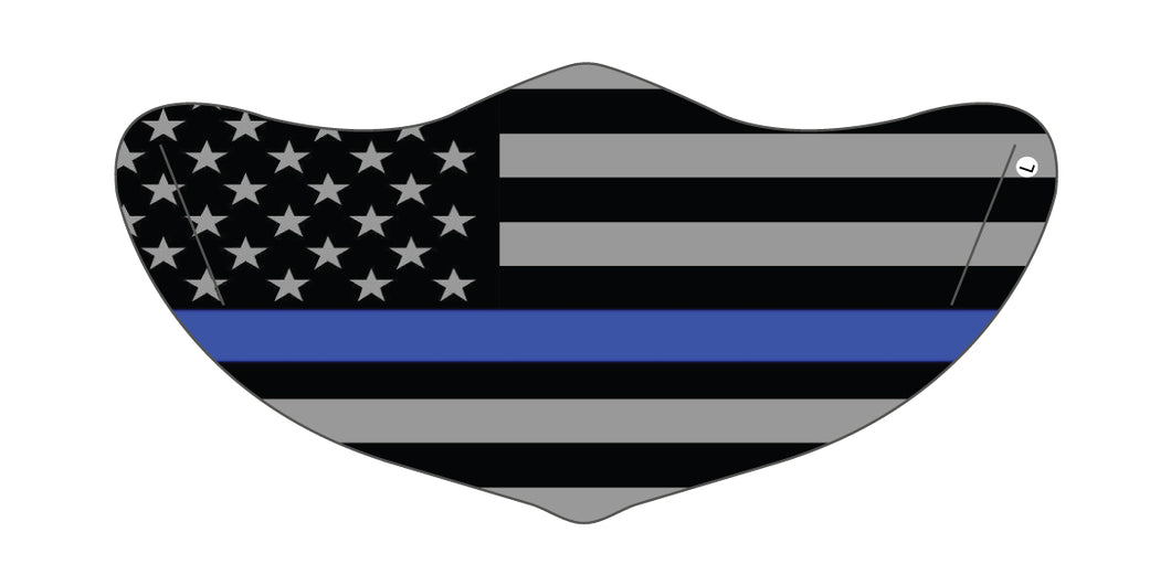 Blue Lives Matter Mask 1