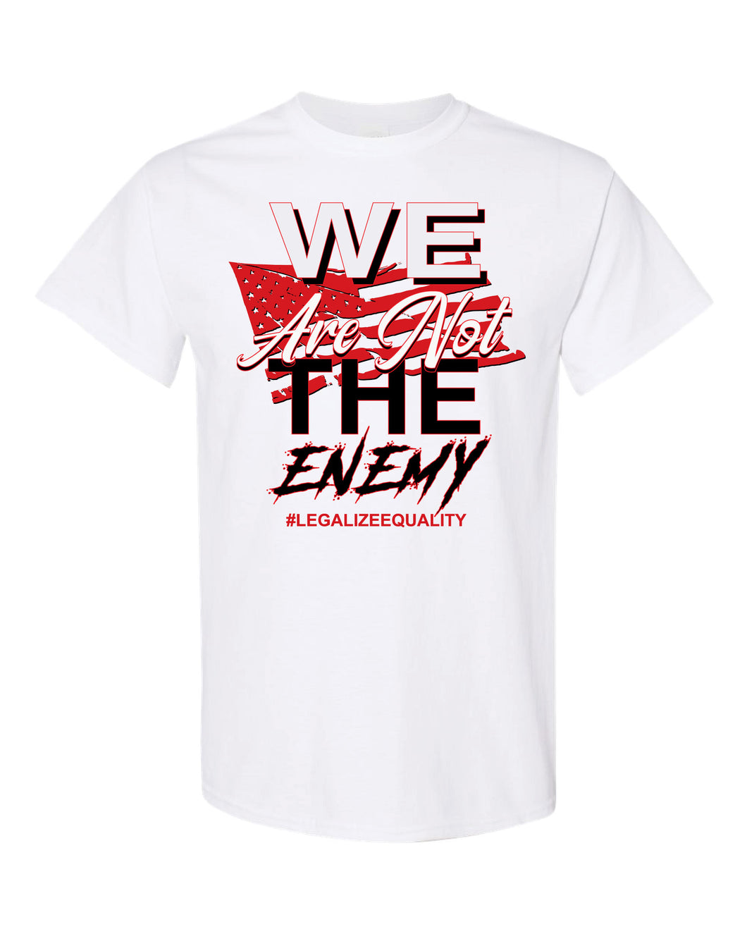 We Are Not The Enemy #BLM T-shirt