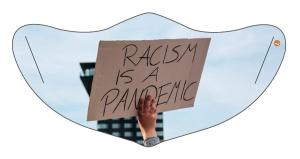 BLM 'Racism is a Pandemic' Face Mask