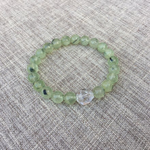 Load image into Gallery viewer, Healers Healer // Sacred Single Wrist Mala Bracelet // Prehnite & Clear Quartz
