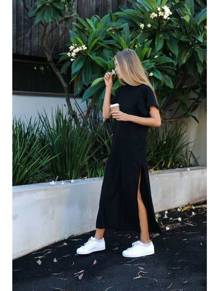 Vintage Black Long Dress
