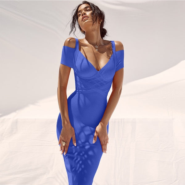 Elegant Off Shoulder Bandage Dress