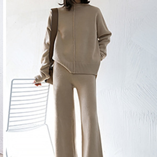 Two Piece Set Pullover Sweater Tracksuit