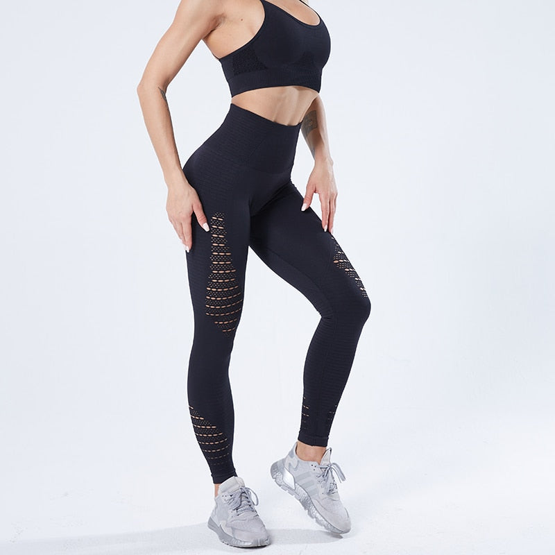 Stretchy Seamless Fitness Leggings