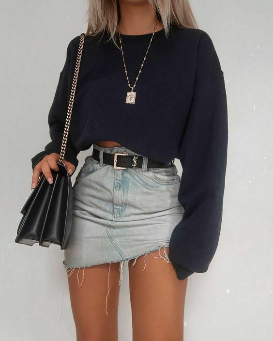 Fashion Long Sleeve Crop Top Loose T-Shirts