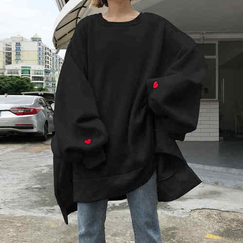 Trendy Solid O-neck Pullover