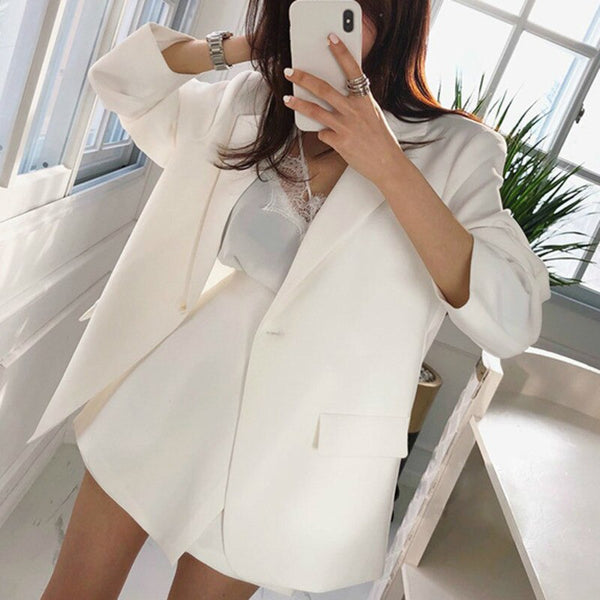 Fashion Loose Single Button Suit
