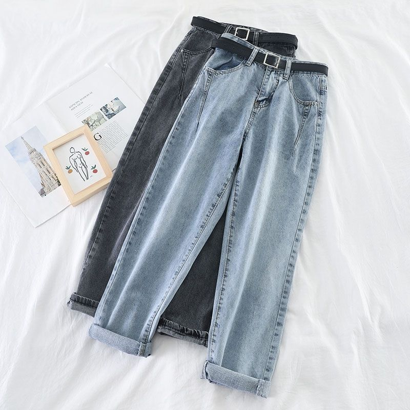 Loose High Waist Jeans Harem Pants