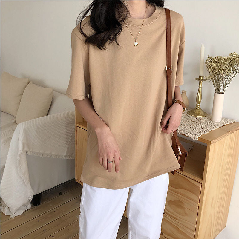 New Oversized  7 Color Casual Loose T Shirt