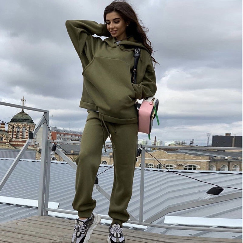 2 Piece Set Oversized Hoodie And Pants