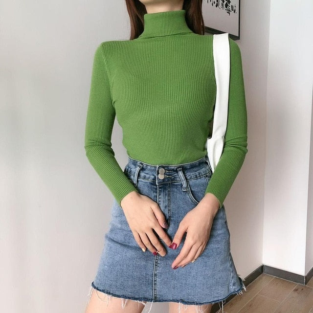 Winter Knitted Turtleneck Soft Sweater