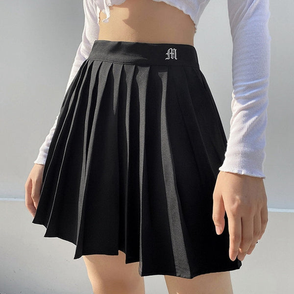 High Waist Cosplay Pleated Mini Skirt