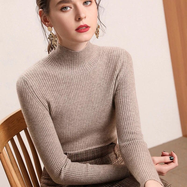 Knitted Jumper Turtleneck Pullovers