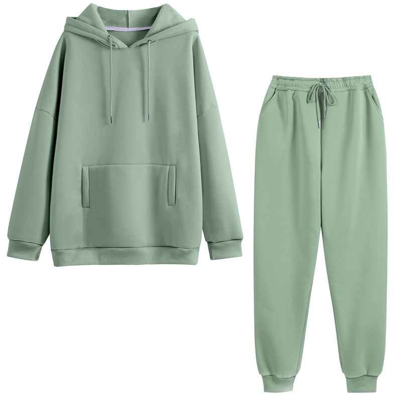2 Piece Set Oversized Sweatshirt & Long Pant
