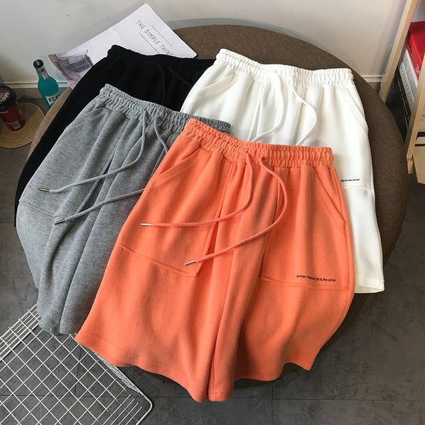 Summer High Waist Wide Leg Short Pants