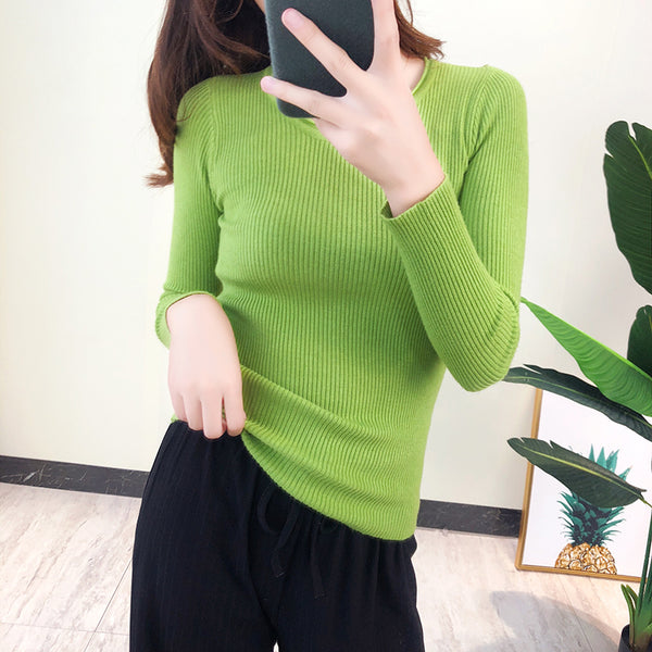 Long Sleeve Basic Knitted Sweaters