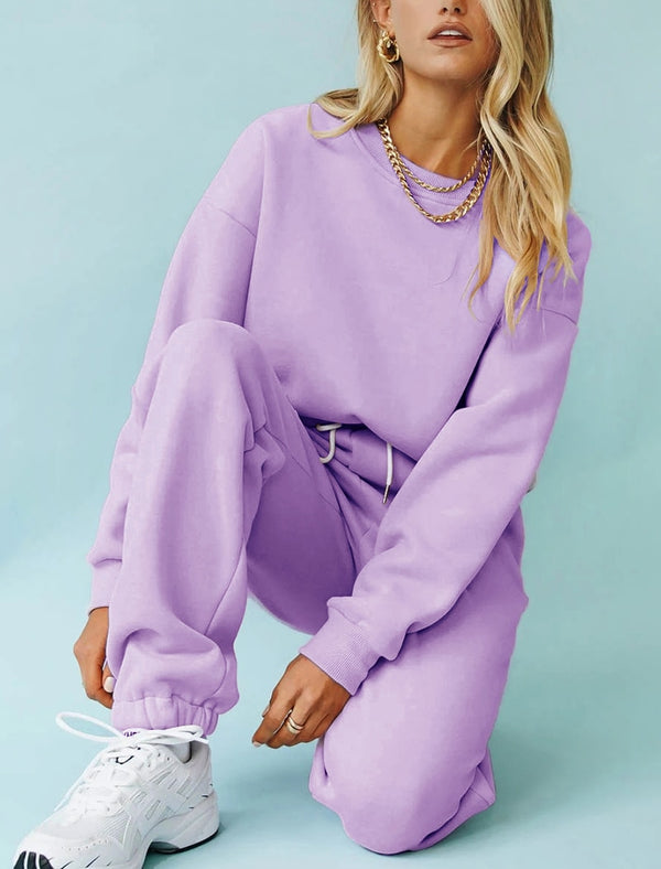 2 Piece Sweatshirts Sweatpants Suit