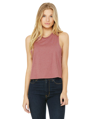 Bella+Canvas - Ladies Cropped Racerback Tank