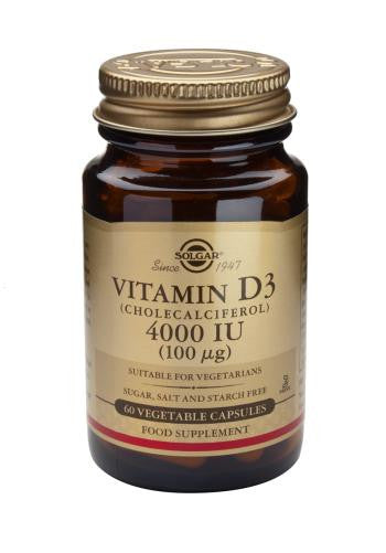 Vitamin D3 4000 IU (100 µg) Vegetable Capsules