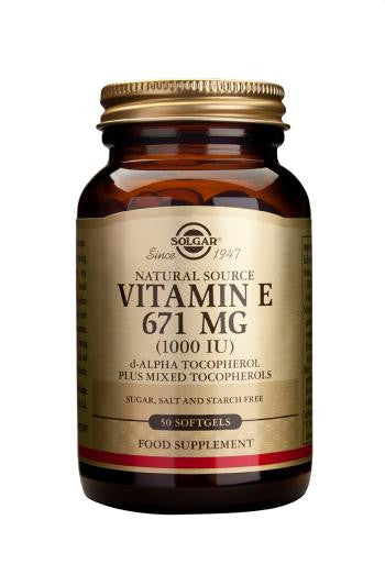 Vitamin E 671 mg (1000 IU) Softgels