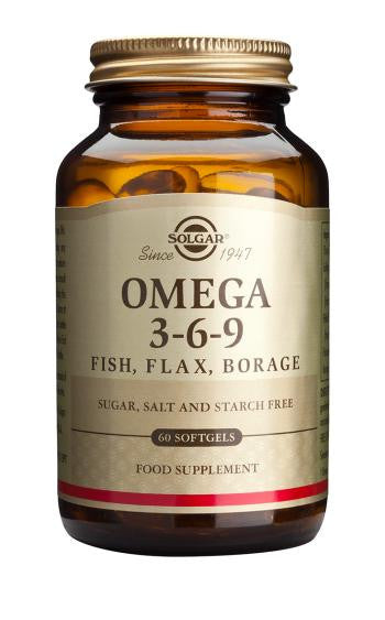 Omega 3-6-9 Fish, Flax, Borage Softgels