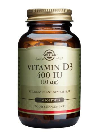 Vitamin D3 400 IU (10 µg) Softgels