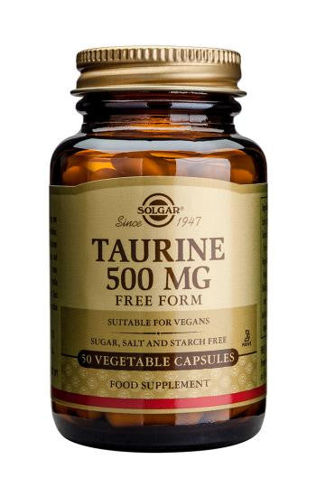 Taurine 500 mg Vegetable Capsules