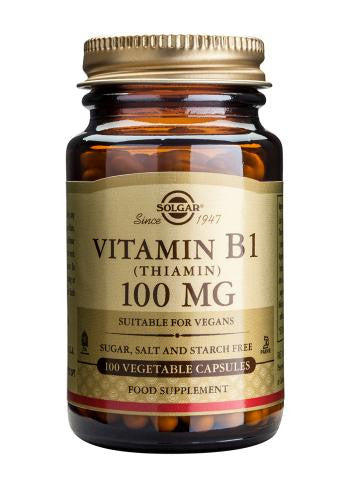 Vitamin B1 100 mg (Thiamin) Vegetable Capsules