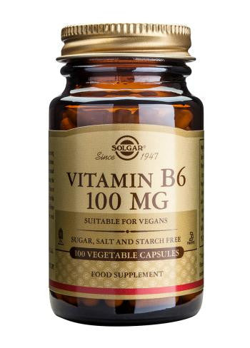Vitamin B6 100 mg Vegetable Capsules