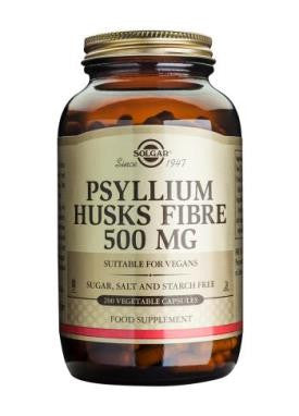 Psyllium Husks Fibre 500 mg Vegetable Capsules