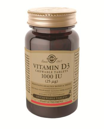 Vitamin D3 1000IU (25ug) Chewable