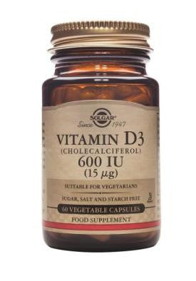 Vitamin D3 600 IU (15 µg) Vegetable Capsules