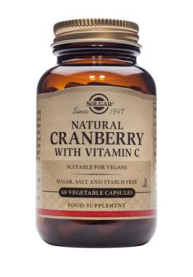 Natural Cranberry with Vitamin C Vegetable Capsules